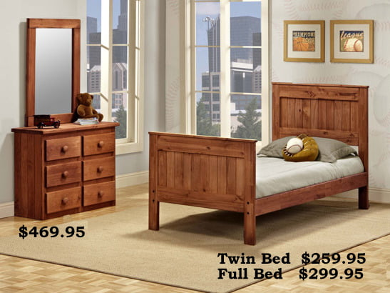Pine Crafter Mates Bed